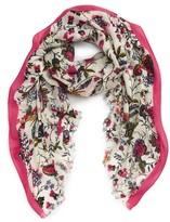 Tory Burch Women's Gabriella Floral Wool Scarf