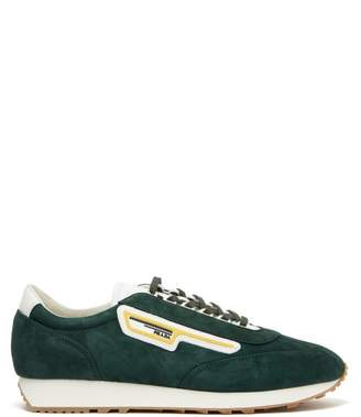 Prada Milano Suede Trainers - Mens - Green