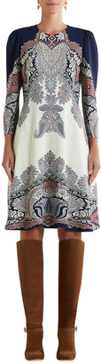 Etro Engineer Paisley-Print Knee-Length Dress