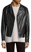 Theory Primo Banded Leather Motor Jacket