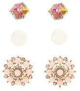 Charlotte Russe Embellished Stud Earrings - 3 Pack
