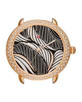 Michele 16mm Serein Diamond Willow Watch Head in Rose-Gold Plate