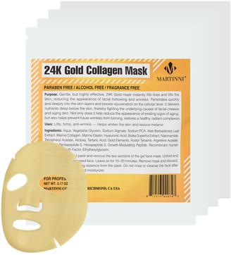 Martinni Beauty Martinni 24K Gold Collagen Set Of 4 Facial Masks