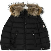 Moncler Byron padded coat - kids - Feather Down/Polyamide/Racoon Fur - 4 yrs