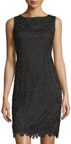 Chetta B Lace Sleeveless Sheath Dress, Black