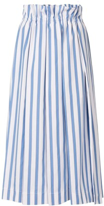 Dice Kayek Striped Print Midi Skirt