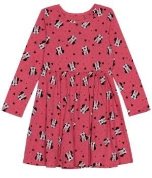 Disney Toddler Girls Minnie Holiday Long Sleeve Dress
