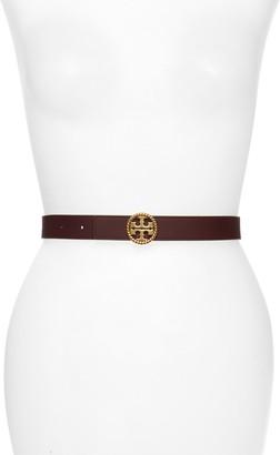 Tory Burch Braided Logo Leather Belt