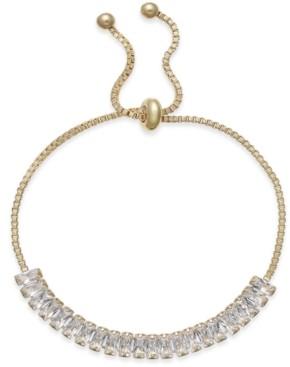 INC International Concepts Inc Baguette Crystal Slider Bracelet, Created for Macy's