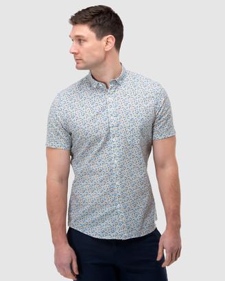 Brooksfield Abstract Print Short Sleeve Casual Shirt