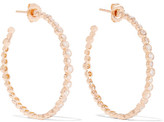 Ippolita Glamazon® Starlet 18-karat Rose Gold Diamond Hoop Earrings - one size