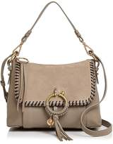 See by Chloe Joan Whipstitch Small Suede & Leather Satchel