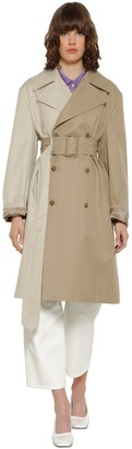 MM6 MAISON MARGIELA Bicolor Cotton Gabardine Trench Coat