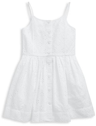 Ralph Lauren Little Girl's Eyelet Fit-and-Flare Dress
