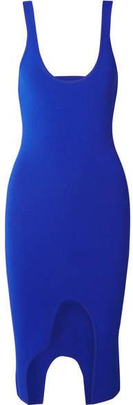 Altuzarra Saturday Asymmetric Cutout Stretch-knit Dress - Navy