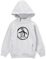 Original Penguin Heather Gray & White Circle Pete Hoodie - Boys