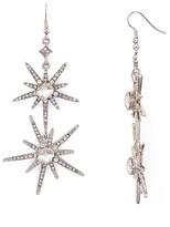 Aqua Icy Double Drop Earrings