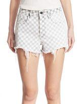 Alexander Wang Denim Bite Checkered Shorts