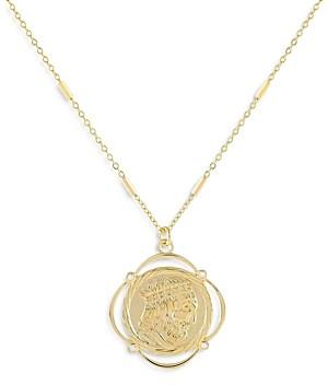 Adina's Jewels Adinas Jewels Greek Coin Pendant Necklace, 17