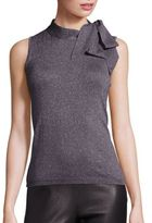 Saks Fifth Avenue COLLECTION Sleeveless Bow Tie Blouse