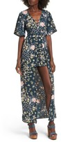 Band of Gypsies Women's Moody Floral Print Maxi Romper