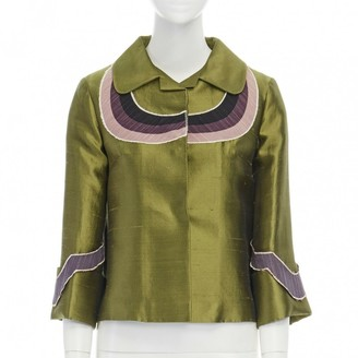 Miu Miu Purple Silk Jacket for Women