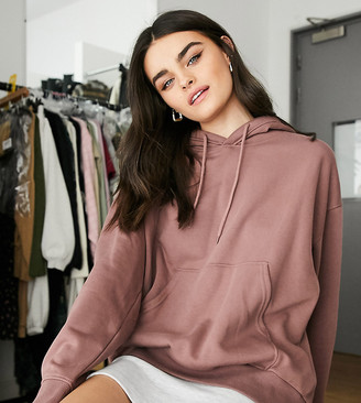 Weekday Alisa organic cotton oversized hoodie in chocolate