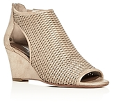 Donald J Pliner Jace Metallic Perforated Wedge Sandals