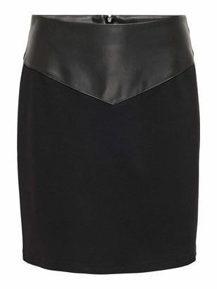 Only Women's ONLMALENE Faux Leather Mix Skirt OTW