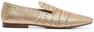 Henderson Baracco Woven Almond Toe Loafers