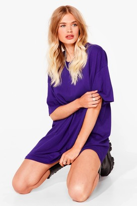 Nasty Gal Womens Easy Does It Tee Dress - Purple