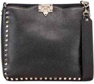 Valentino Rockstud Shoulder Bag in Black   FWRD