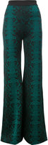 Balmain patterned flared trousers - women - Viscose - 40
