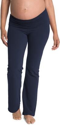 Cozy Wide Leg Foldover Maternity Pants