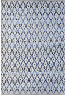 Imagine Home Martha Argyle Handmade Flatweave Wool/Cotton Blue Area Rug Rug Size: Rectangle 2' x 3'