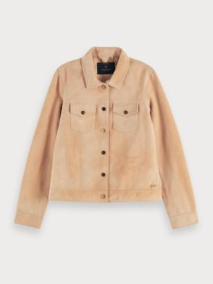Scotch & Soda Fitted soft suede jacket | Women