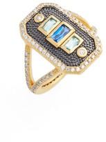 Freida Rothman Women's Modern Mosaic Cocktail Ring
