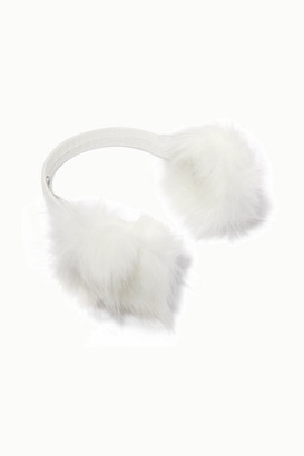 Eugenia Kim Janine Leather And Faux Fur Earmuffs - White