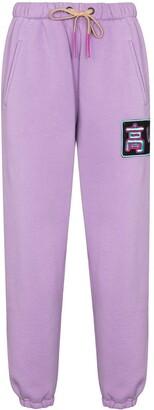 Natasha Zinko Logo-Patch Tapered-Fit Track Pants