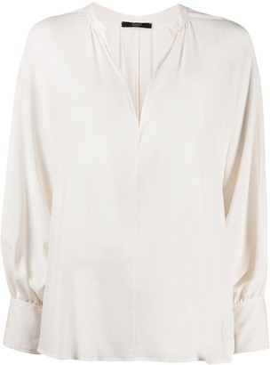 Seventy V-Neck Silk Blouse
