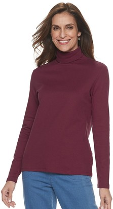 Croft & Barrow Women's Classic Long Sleeve Turtleneck