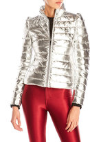 Love Moschino Silver Quilted Puffer Jacket