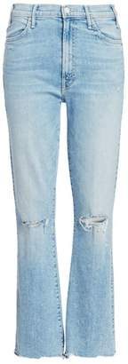 Mother Hustler High-Rise Ankle Chew Hem Jeans