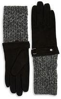 Lauren Ralph Lauren Wool-Blend Cuff and Suede Gloves