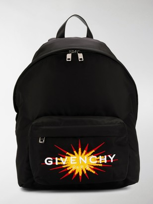 Givenchy Embroidered Logo Motif Backpack