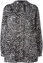 Giamba zebra print jacket - women - Polyamide - 42