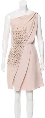 Genny Embellished Knee-Length Dress w/ Tags