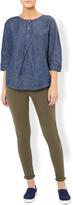 Monsoon Violet Linen Pleat Shirt