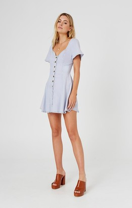 Finders Keepers ISLA MINI DRESS washed blue
