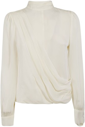 Michael Kors Round Neck Back Zipped Blouse